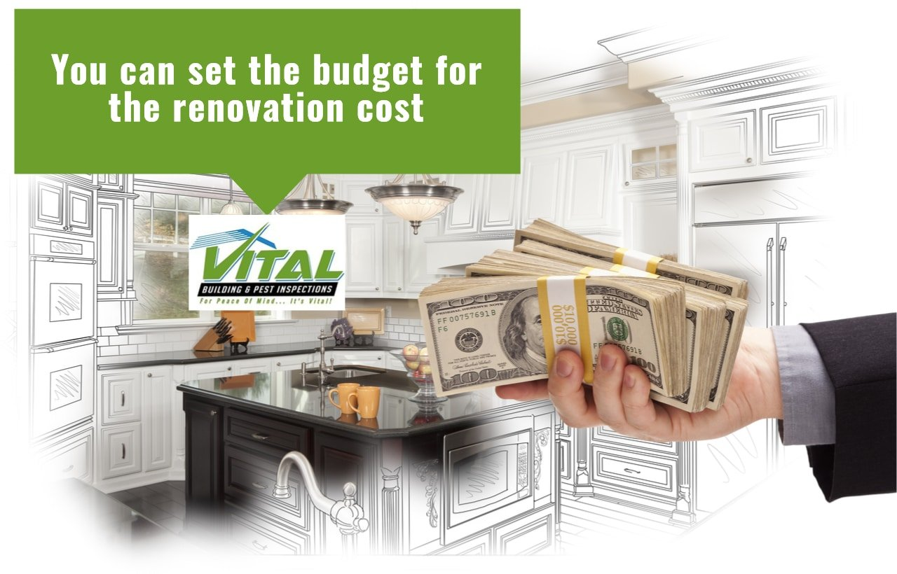 You can set the budget for the renovation cost