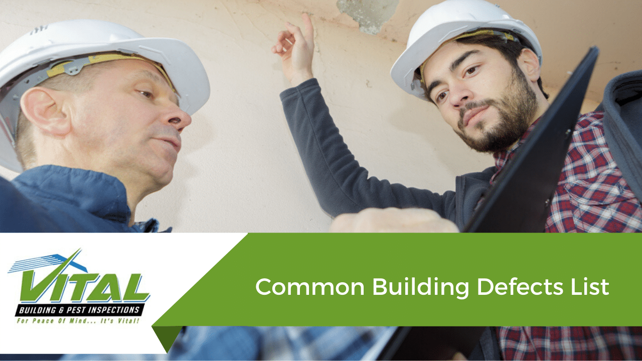 Common Building Defects List