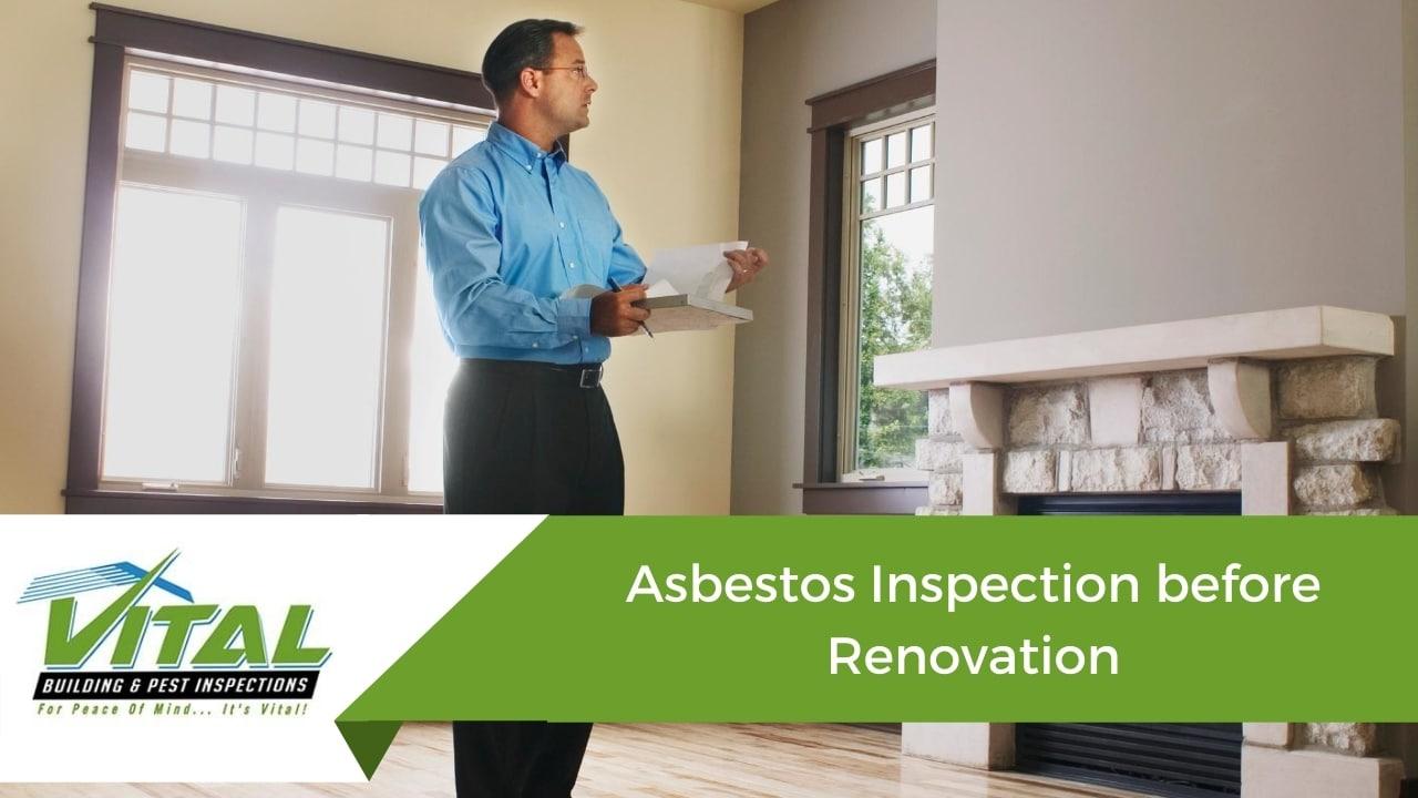 Asbestos Inspection before Renovation